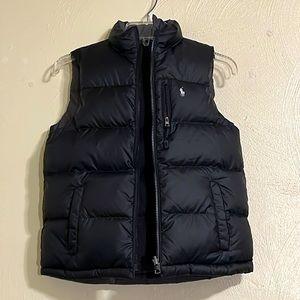 Polo Ralph Lauren Puffer Vest Black Gray Big Boys Medium (10-12)